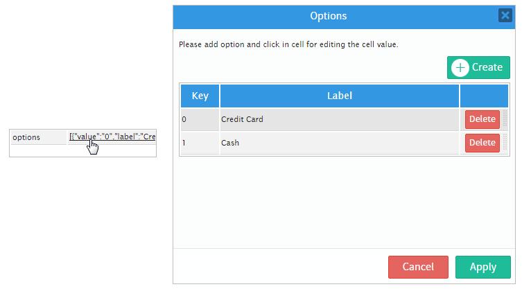 dijit select set options binary