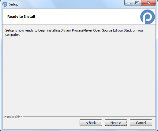 3 1 - ProcessMaker Bitnami Installer | Documentation@ProcessMaker