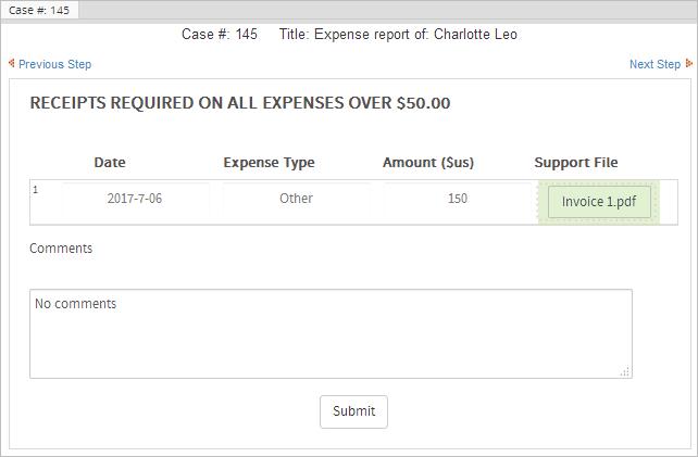 3 2 enterprise trial expense report process documentation