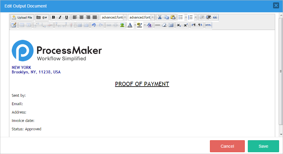 3 1 - Output Documents | Documentation@ProcessMaker