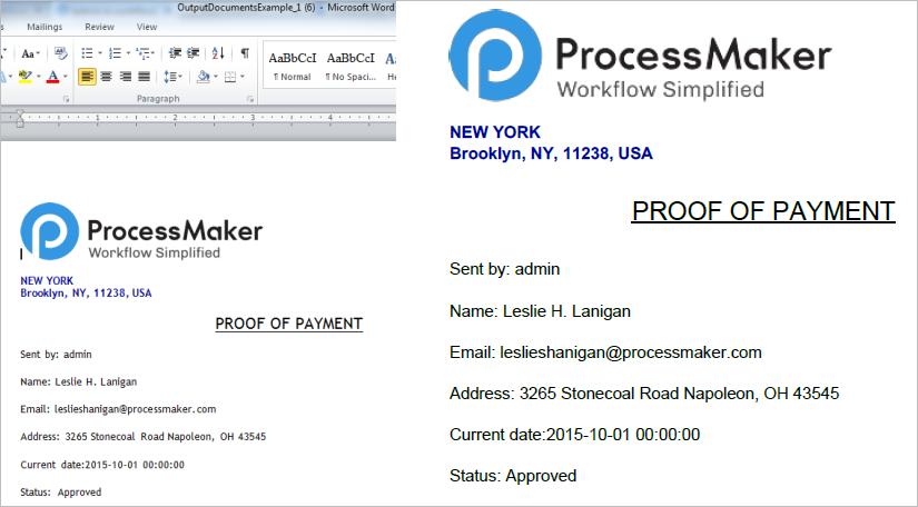 3 3 - Output Document | Documentation@ProcessMaker