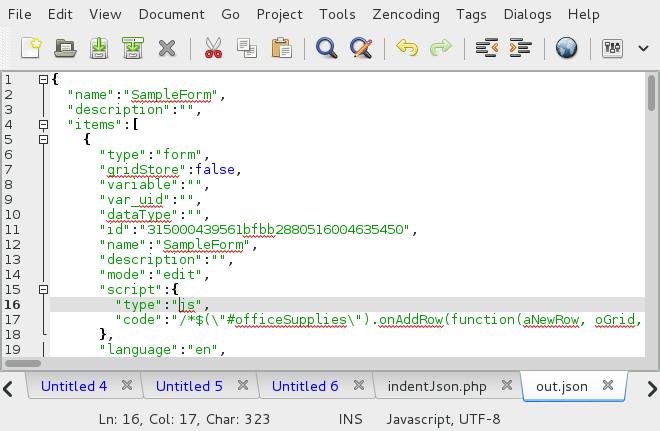 3 0 - Editing the Dynaform's JSON code | Documentation