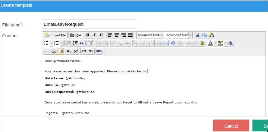 Notifications DocumentationProcessMaker - Html email body template