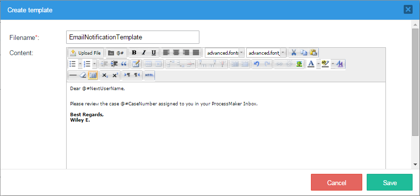 3.2 - Templates | Documentation@ProcessMaker
