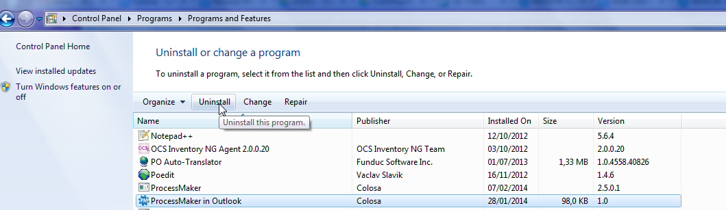 3.0 - Microsoft Outlook Connector | Documentation@ProcessMaker