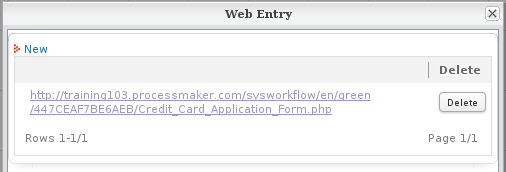 2 0 web entry documentation@processmakerif the php pages with web services option was selected when creating the web entry, then a link to the web entry form will be added to the list of available